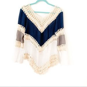 Tops - Vintage Knit and sheer top